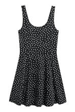 Jersey dress - Black/Spotted - Ladies | H&M CN 2