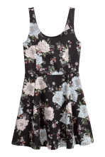 Jersey dress - Black/Floral - Ladies | H&M 2