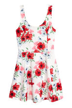 Jersey dress - Natural white/Floral - Ladies | H&M 2