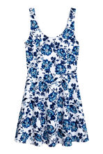 Jersey dress - White/Floral - Ladies | H&M CN 2