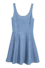 Jersey dress - Blue/Checked - Ladies | H&M GB 2