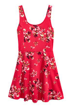 Jersey dress - Red/Floral - Ladies | H&M CN 2