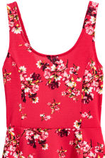 Jersey dress - Red/Floral - Ladies | H&M CN 3