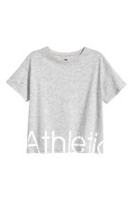 Sports top - Grey marl -  | H&M CA 2