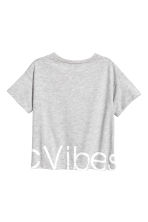 Sports top - Grey marl -  | H&M CA 3
