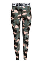 Jersey leggings - Khaki green -  | H&M 2