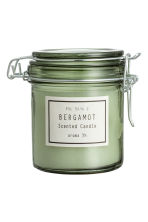 Scented candle in clip-top jar - Dusky green/Bergamot - Home All | H&M GB 1