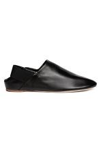 Leather slip-ons - Black - Men | H&M 1