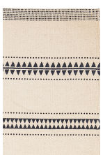Patterned cotton rug - Natural white/Black - Home All | H&M CN 2