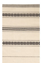 Patterned cotton rug - Natural white/Black - Home All | H&M CN 3