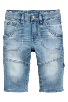 Knielange denim short