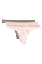 3-pack thong briefs - Apricot/Patterned - Ladies | H&M CN 2