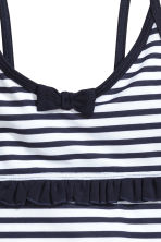 Swimsuit with frills - White/Dark blue/Striped - Kids | H&M CN 2