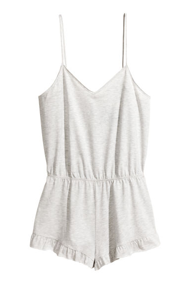 Playsuit - Light grey marl -  | H&M 1