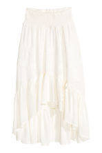 Asymmetric skirt - White -  | H&M 2