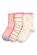 3-pack socks - Light pink - Kids | H&M 2