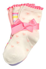 3-pack socks - Light pink - Kids | H&M CN 1