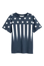 Printed T-shirt - Dark blue/Stars -  | H&M CN 2
