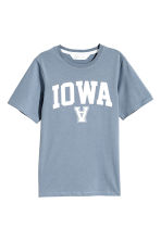 Printed T-shirt - Blue-grey - Kids | H&M CN 2