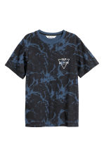 T-shirt con stampa - Nero/blu -  | H&M IT 2