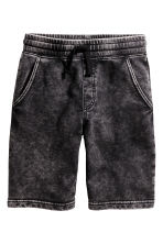 Shorts in felpa - Nero Washed out -  | H&M IT 2