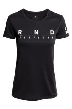 Running top - Black - Ladies | H&M CN 1