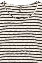 Striped cotton jumper - Natural white/Black - Men | H&M CN 2