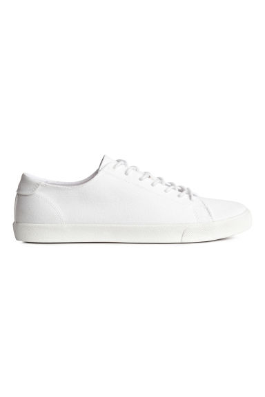 Cotton twill trainers - White - Men | H&M 1