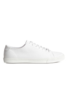 Cotton twill trainers