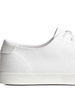 Cotton twill trainers - White - Men | H&M 4