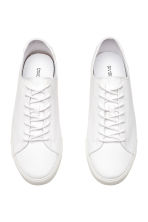 Cotton twill trainers - White - Men | H&M 2