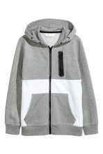 Hooded jacket - Grey/White - Kids | H&M 2