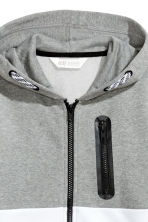 Hooded jacket - Grey/White - Kids | H&M 3
