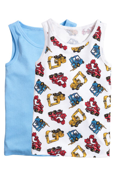 2-pack vest tops - White/Excavator - Kids | H&M 1