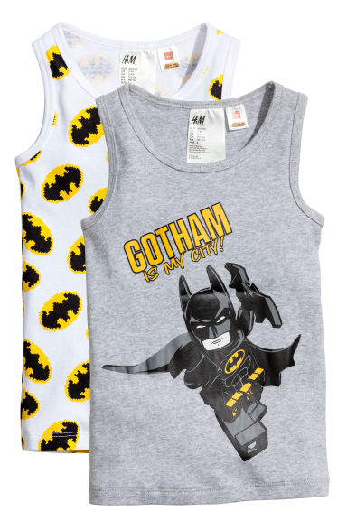 2-pack vest tops - White/Batman - Kids | H&M