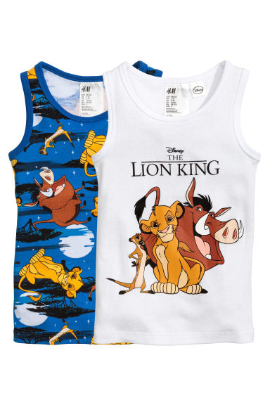 2-pack vest tops - Blue/The Lion King - Kids | H&M 1