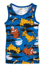 2-pack vest tops - Blue/The Lion King - Kids | H&M CN 2
