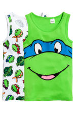 2-pack vest tops - Green/Turtles - Kids | H&M CN 1