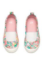 Elasticated trainers - Light pink/Patterned - Kids | H&M CN 2