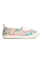 Elasticated trainers - Light pink/Patterned - Kids | H&M CN 1