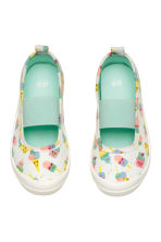 Elasticated trainers - White/Ice cream - Kids | H&M 2