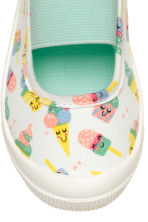Elasticated trainers - White/Ice cream - Kids | H&M 3