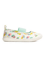 Elasticated trainers - White/Ice cream - Kids | H&M 1