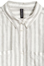 Modal-blend shirt - White/Grey striped - Ladies | H&M CN 3