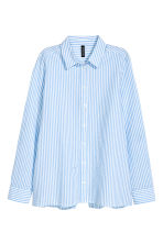 Blouse with a wrapover back - Blue/Striped - Ladies | H&M CN 2