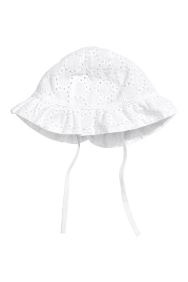 Sun hat - White -  | H&M CN