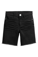 Long twill shorts - Black - Kids | H&M 2