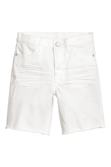 Long twill shorts