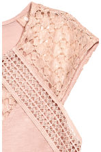 Top with lace - Powder pink -  | H&M 2