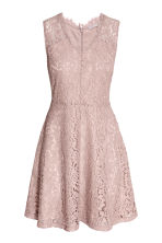 V-neck lace dress - Light pink - Ladies | H&M CN 2